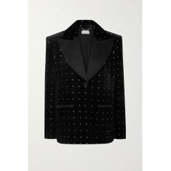 Magda Butrym - Amsterdam Silk-satin Trimmed Crystal-embellished Velvet Blazer - Black found on Bargain Bro Philippines from NET-A-PORTER for $1150.00