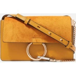 Chloé - Faye Small Leather And Suede Shoulder Bag - Mustard found on MODAPINS from NET-A-PORTER UK for USD $1181.76