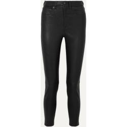 rag & bone - Nina Cropped Leather Skinny Pants - Black