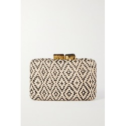 Kayu - Cleo Woven Straw Clutch - Beige found on MODAPINS from NET-A-PORTER UK for USD $258.33