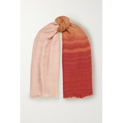 Loro Piana - Fringed Cashmere And Silk-blend Scarf - Beige found on MODAPINS from NET-A-PORTER for USD $1350.00