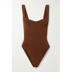 Hunza G - Nile Anthea Ribbed Swimsuit - Brown found on Bargain Bro Philippines from NET-A-PORTER for $180.00