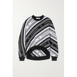 Givenchy - Intarsia Wool Sweater - Black found on Bargain Bro UK from NET-A-PORTER UK