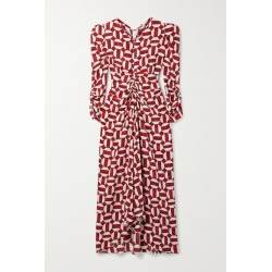 Isabel Marant - Albi Ruched Printed Silk-blend Dress - Red found on Bargain Bro UK from NET-A-PORTER UK