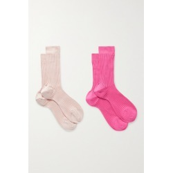 Maria La Rosa - Set Of Two Organic Cotton Socks - Pink found on Bargain Bro India from NET-A-PORTER for $76.00