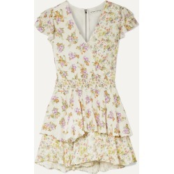 Alice Olivia - Mariska Ruffled Floral-print Voile Playsuit - Cream found on MODAPINS from NET-A-PORTER for USD $231.00