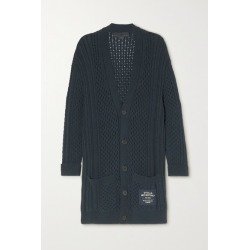 Stella McCartney - Cable-knit Organic Cotton-blend Cardigan - Navy found on Bargain Bro UK from NET-A-PORTER UK