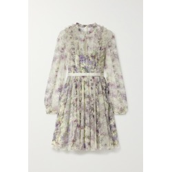 Needle & Thread - Lilacs Garland Satin-trimmed Ruffled Floral-print Tulle Mini Dress - Ivory found on Bargain Bro India from NET-A-PORTER for $419.00