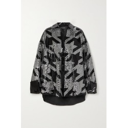 David Koma - Oversized Embellished Patent-leather Shirt - Black found on MODAPINS from NET-A-PORTER for USD $9325.00