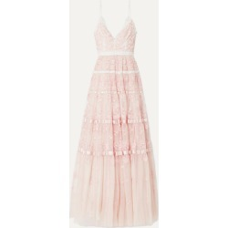 Needle & Thread - Satin-trimmed Embroidered Tulle Gown - Pastel pink found on Bargain Bro UK from NET-A-PORTER UK