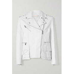 Michael Kors Collection - Ruffled Leather Biker Jacket - White found on Bargain Bro India from NET-A-PORTER for $2890.00