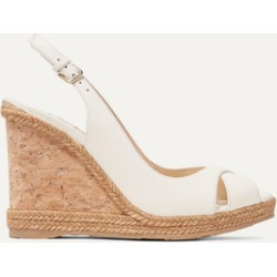 Jimmy Choo - Amely 105 Leather Slingback Wedge Sandals - White found on Bargain Bro UK from NET-A-PORTER UK
