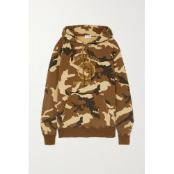 SAINT LAURENT - Camouflage-print Cotton-jersey Hoodie - Green found on Bargain Bro UK from NET-A-PORTER UK