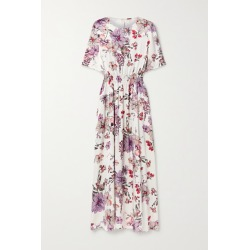 Adam Lippes - Shirred Floral-print Silk-satin Maxi Dress - White found on MODAPINS from NET-A-PORTER UK for USD $1727.16