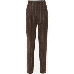 Giuliva Heritage Collection - Cornelia Pinstriped Wool Tapered Pants - Brown found on Bargain Bro UK from NET-A-PORTER UK