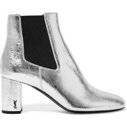 Saint Laurent - Loulou Metallic Textured-leather Ankle Boots - Silver found on MODAPINS from NET-A-PORTER UK for $949.41