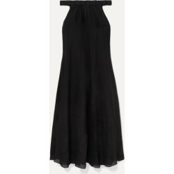 Three Graces London - Evangeline Off-the-shoulder Ramie Maxi Dress - Black found on Bargain Bro Philippines from NET-A-PORTER for $235.20