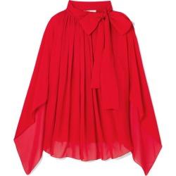 Antonio Berardi - Tie-neck Silk-chiffon Top - Red found on MODAPINS from NET-A-PORTER UK for USD $811.52