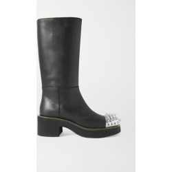 Miu Miu - Spiked Leather Boots - Black found on MODAPINS from NET-A-PORTER UK for USD $1212.69