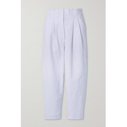 Rue Mariscal - + Net Sustain Pleated Cotton-canvas Tapered Pants - White found on Bargain Bro UK from NET-A-PORTER UK