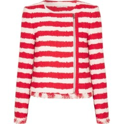 Alice Olivia - Stanton Striped Tweed Jacket - Red found on MODAPINS from NET-A-PORTER for USD $417.00