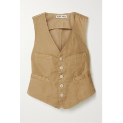 Alex Mill - Cropped Cotton-blend Twill Vest - Beige found on MODAPINS from NET-A-PORTER for USD $110.00