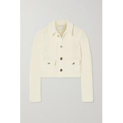 Bottega Veneta - Cropped Open-knit Cotton-blend Jacket - Cream found on Bargain Bro UK from NET-A-PORTER UK