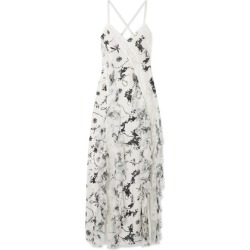 Alice Olivia - Jayda Lace-trimmed Ruffled Floral-print Silk Crepe De Chine Maxi Dress - White found on MODAPINS from NET-A-PORTER for USD $537.00