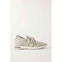 Loro Piana - 360 Lp Flexy Walk Suede And Leather-trimmed Wool Sneakers - Light gray found on Bargain Bro Philippines from NET-A-PORTER for $850.00