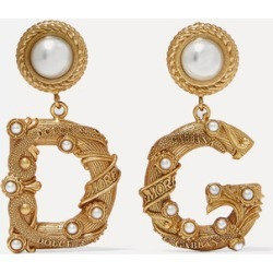 Dolce & Gabbana - Gold-tone Faux Pearl Clip Earrings - one size found on Bargain Bro UK from NET-A-PORTER UK
