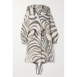 Moncler - Achird Hooded Zebra-print Shell Parka - White found on Bargain Bro UK from NET-A-PORTER UK