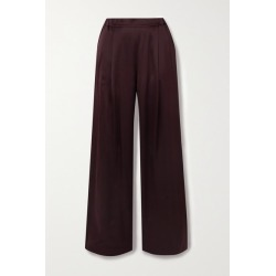 Carine Gilson - Silk-satin Pajama Pants - Burgundy found on MODAPINS from NET-A-PORTER UK for USD $711.70