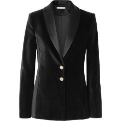 Alice Olivia - Tana Satin-trimmed Velvet Blazer - Black found on MODAPINS from NET-A-PORTER for USD $550.00