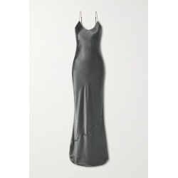 Nili Lotan - Silk-satin Gown - Dark gray found on MODAPINS from NET-A-PORTER UK for USD $360.02