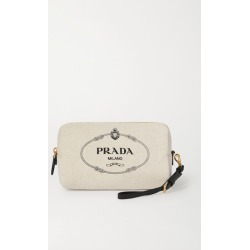 Prada - Printed Canvas Cosmetics Case - Cream found on Bargain Bro UK from NET-A-PORTER UK