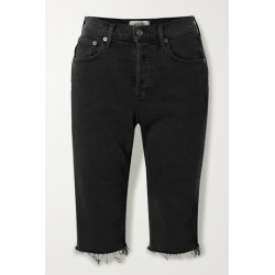 AGOLDE - Carrie Frayed Denim Shorts - Black found on MODAPINS from NET-A-PORTER UK for USD $225.44