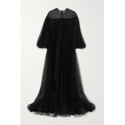 Huishan Zhang - Ilaria Oversized Sequin-embellished Pleated Tulle Gown - Black found on MODAPINS from NET-A-PORTER UK for USD $3334.29