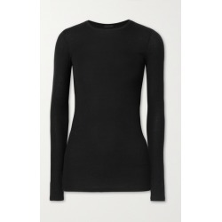 ATM Anthony Thomas Melillo - Ribbed Stretch-micro Modal Top - Black found on Bargain Bro UK from NET-A-PORTER UK