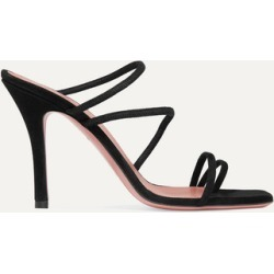 Amina Muaddi - Naima Suede Sandals - Black found on Bargain Bro India from NET-A-PORTER for $695.00
