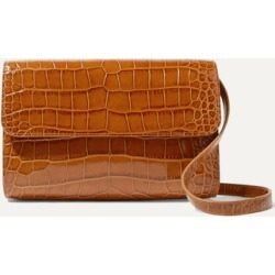 BY FAR - Cross-over Croc-effect Leather Shoulder Bag - Tan found on Bargain Bro UK from NET-A-PORTER UK