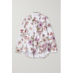 Adam Lippes - Floral-print Cotton-poplin Shirt - White found on MODAPINS from NET-A-PORTER UK for USD $1222.30