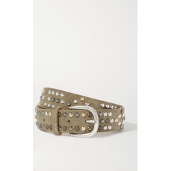 Isabel Marant - Devis Studded Suede Belt - Army green found on Bargain Bro UK from NET-A-PORTER UK