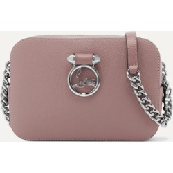 Christian Louboutin - Rubylou Textured-leather Shoulder Bag - Blush found on Bargain Bro UK from NET-A-PORTER UK