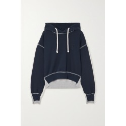 JW Anderson - Paneled Cotton-terry And Jersey Hoodie - Navy found on MODAPINS from NET-A-PORTER UK for USD $314.33