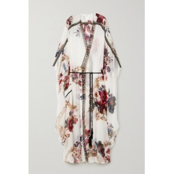 Camilla - Belted Crystal-embellished Printed Silk-crepon Kaftan - White found on MODAPINS from NET-A-PORTER UK for USD $1000.28
