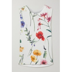 Oscar de la Renta - Floral-print Knitted Tank - Ivory found on MODAPINS from NET-A-PORTER UK for USD $1305.75