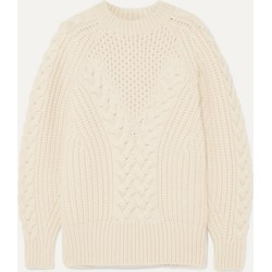 Alexander McQueen - Cable-knit Wool Sweater - Ivory found on MODAPINS from NET-A-PORTER UK for USD $1120.42