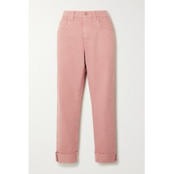 Brunello Cucinelli - Bead-embellished High-rise Straight-leg Jeans - Blush found on Bargain Bro Philippines from NET-A-PORTER for $995.00