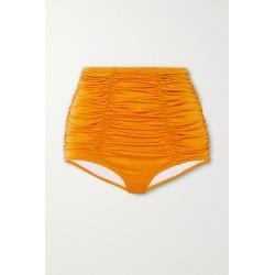 Dodo Bar Or - Emma Metallic Ruched Bikini Briefs - Orange found on MODAPINS from NET-A-PORTER for USD $160.00