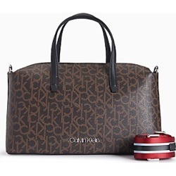monogram ribbon stripe duffle bag found on MODAPINS from Calvin Klein, Inc. for USD $138.00